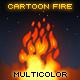 Cartoon Multicolor Fire - ActiveDen Item for Sale