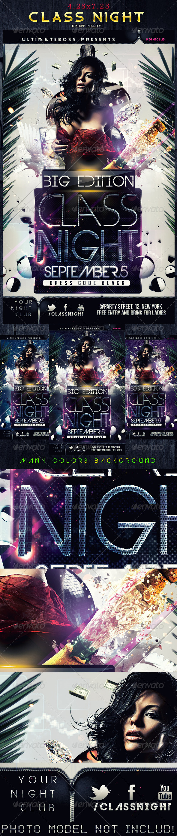 GraphicRiver Class Night Flyer 2292990