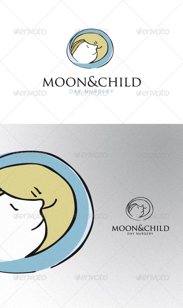 The Moon and the Child - Humans Logo Templates