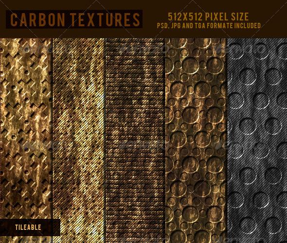 3DOcean Carbon Textures  CG Textures -  Metal 2294347