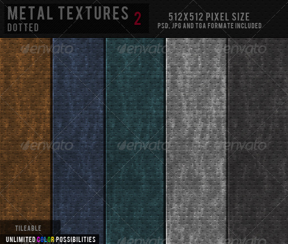 3DOcean Metal Texture Dotted 2 CG Textures -  Metal  Copper and Bronze 2294682