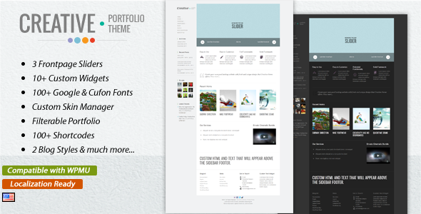 ThemeForest Creative Clean & Modern WordPress Theme 1408341