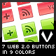 7 Web 2.0 Buttons in 9 Colors - GraphicRiver Item for Sale