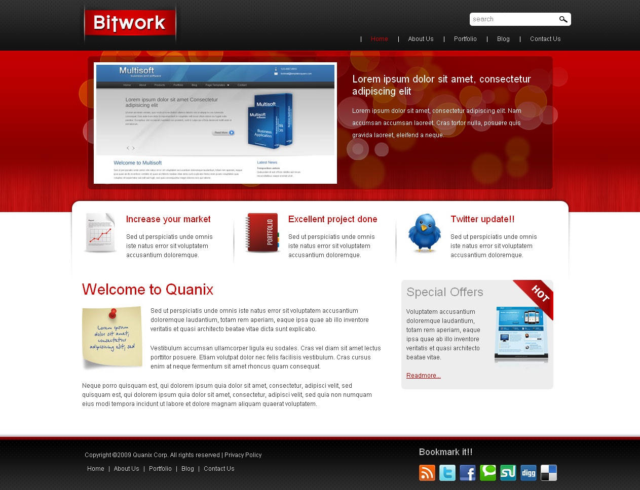 Bitwork - Portfolio and Business Website Template