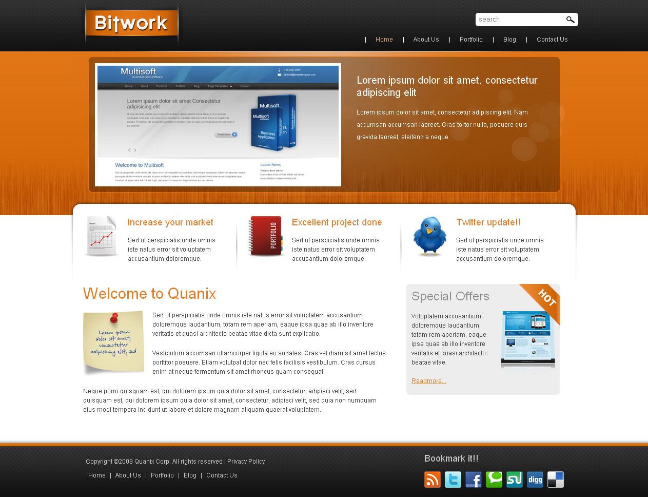 Bitwork - Portfolio and Business Website Template