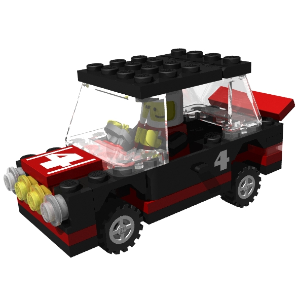 3DOcean LEGO rally car 85435