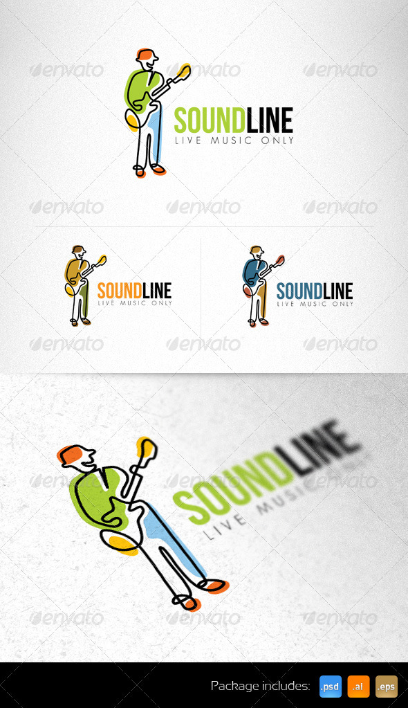 Sound Line Live Sound Creative Logo Template - Humans Logo Templates