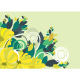 Floral background in vibrant yellow and green - GraphicRiver Item for Sale