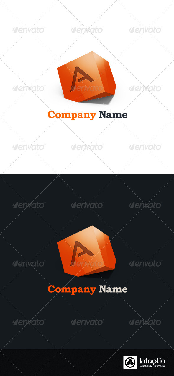 Letter A 3D Abstract Logo - 3d Abstract