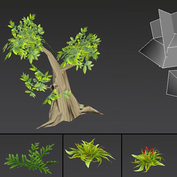 3DOcean Trees LowPoly 2297429