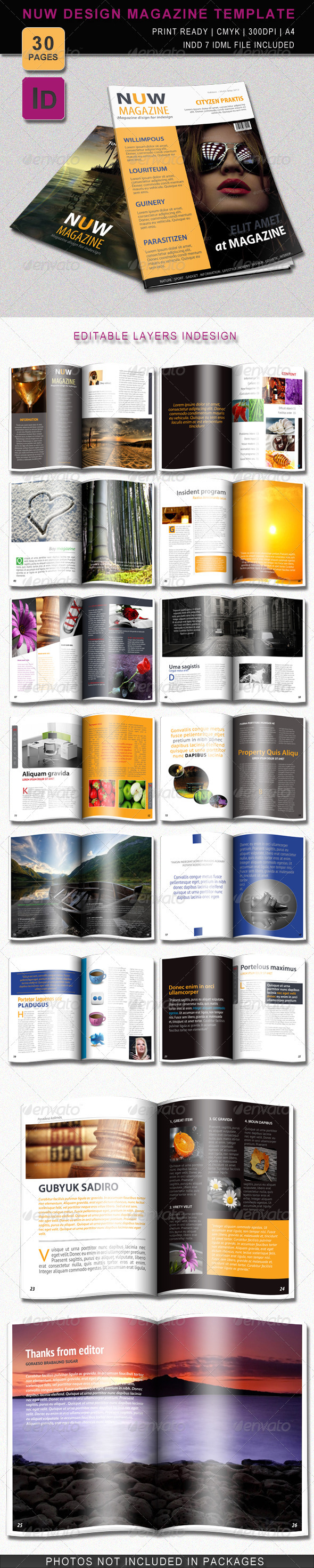 GraphicRiver Nuw Design Magazine Template 2298086
