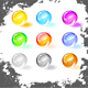 Shiny grunge balls, vector illustration  - GraphicRiver Item for Sale