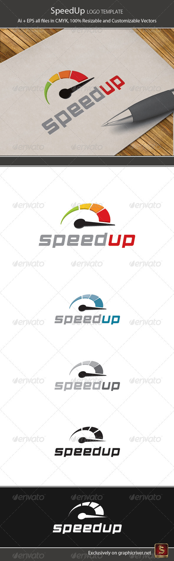 Speed Up Logo Template - Symbols Logo Templates