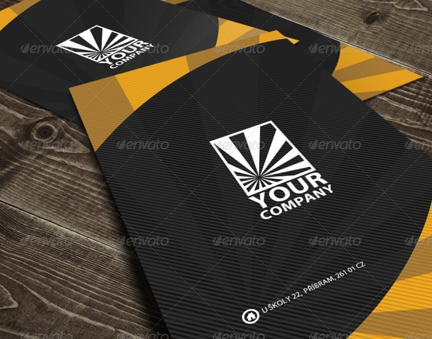 Modern Rounded Quick Respose Business Card