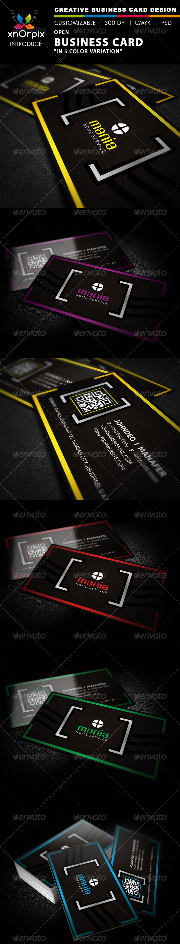 Open Business Card - Corporate Business Cards