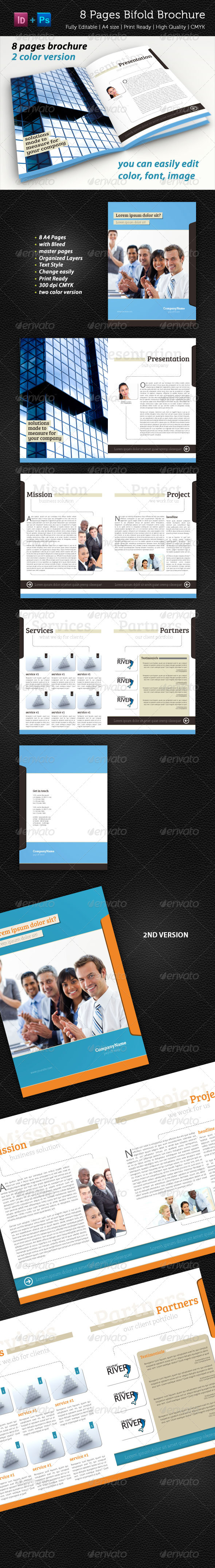 GraphicRiver 8 Pages Bifold Brochure 2300713