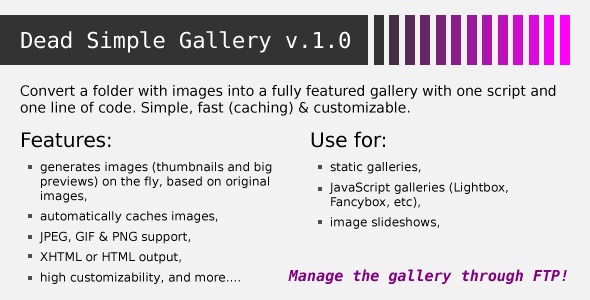 CodeCanyon Dead Simple Gallery 2301011