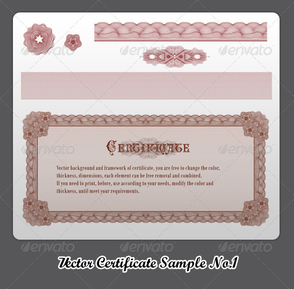 GraphicRiver Vector Certificate Sample No.1 260813