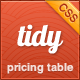 Tidy CSS3 Pricing Table - Simple, Clean, Flexible