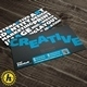 Creative Keywords QR Business Card - GraphicRiver Item for Sale