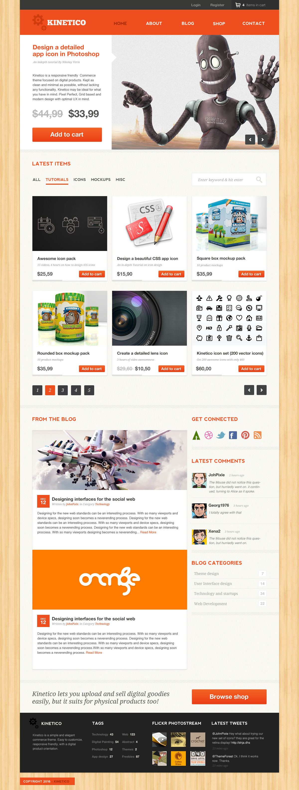 Kinetico - A responsive-friendly, E-Commerce theme
