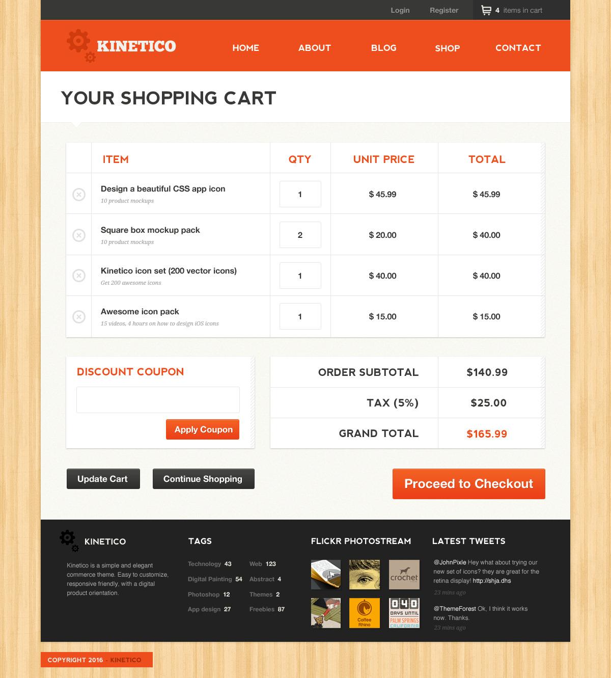 Kinetico - A responsive-friendly, E-Commerce theme