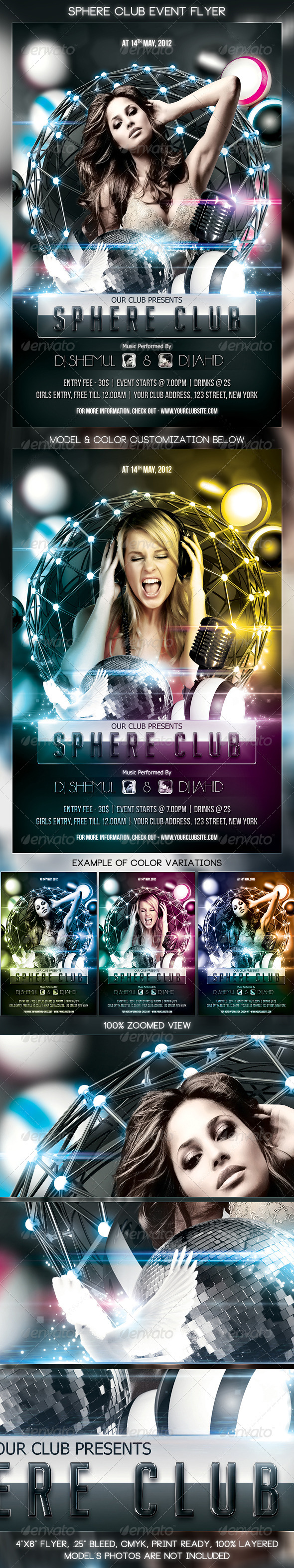 Sphere Club Event Flyer - Clubs & Parties Events