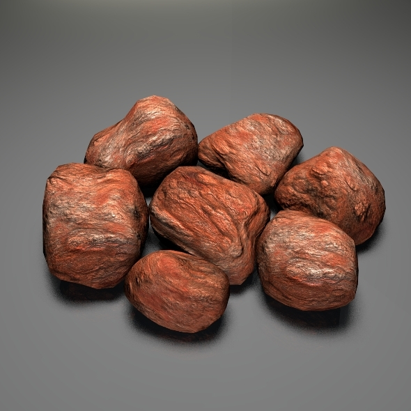 Rocky Stones Lowpoly - 3DOcean Item for Sale