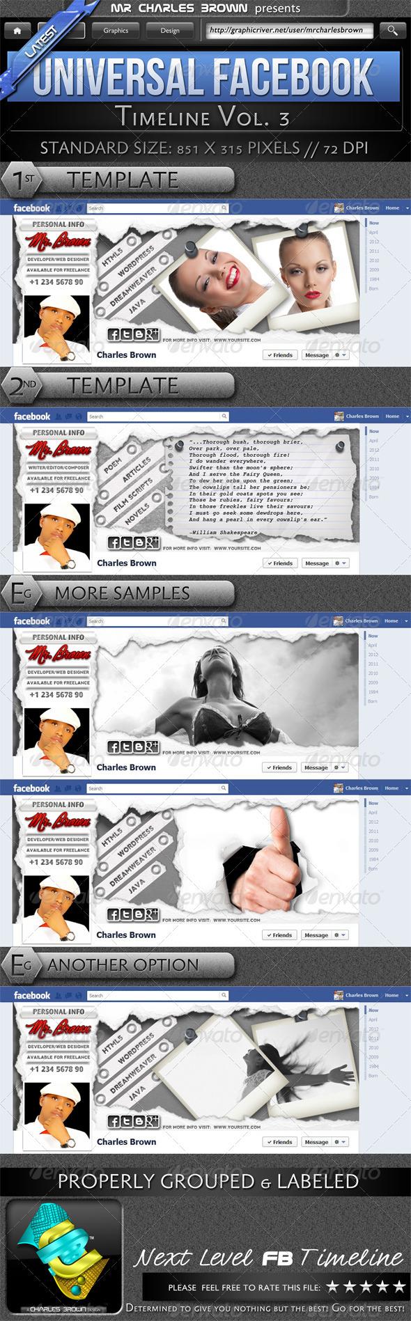 Universal FB Timeline v3 - Facebook Timeline Covers Social Media
