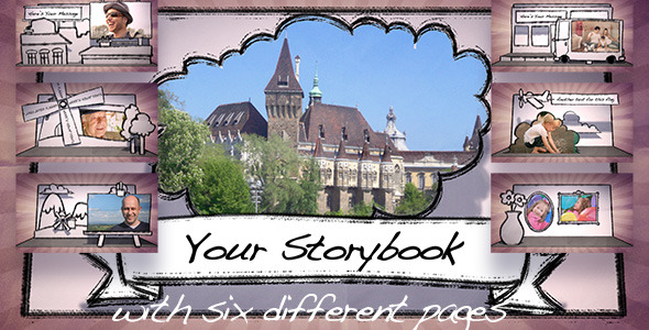 VideoHive Storybook for Families Weddings Memories 2304743