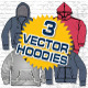 Hooded Sweatshirts Vector Template