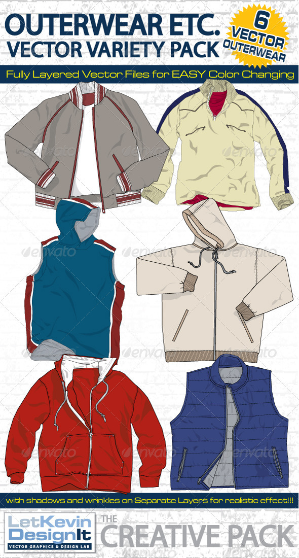 Outerwear Vector Mock-Ups - template - Retail Commercial / Shopping