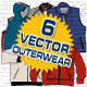 Outerwear Vector Mock-Ups - template