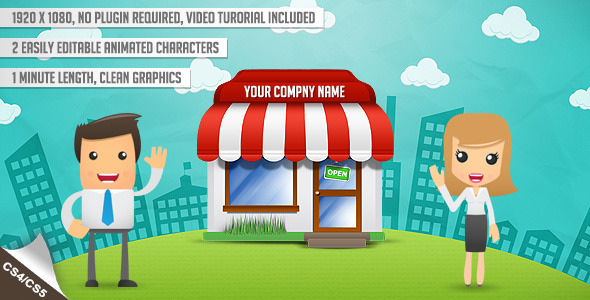 After Effects Project - VideoHive animated characters promotes your busines ...