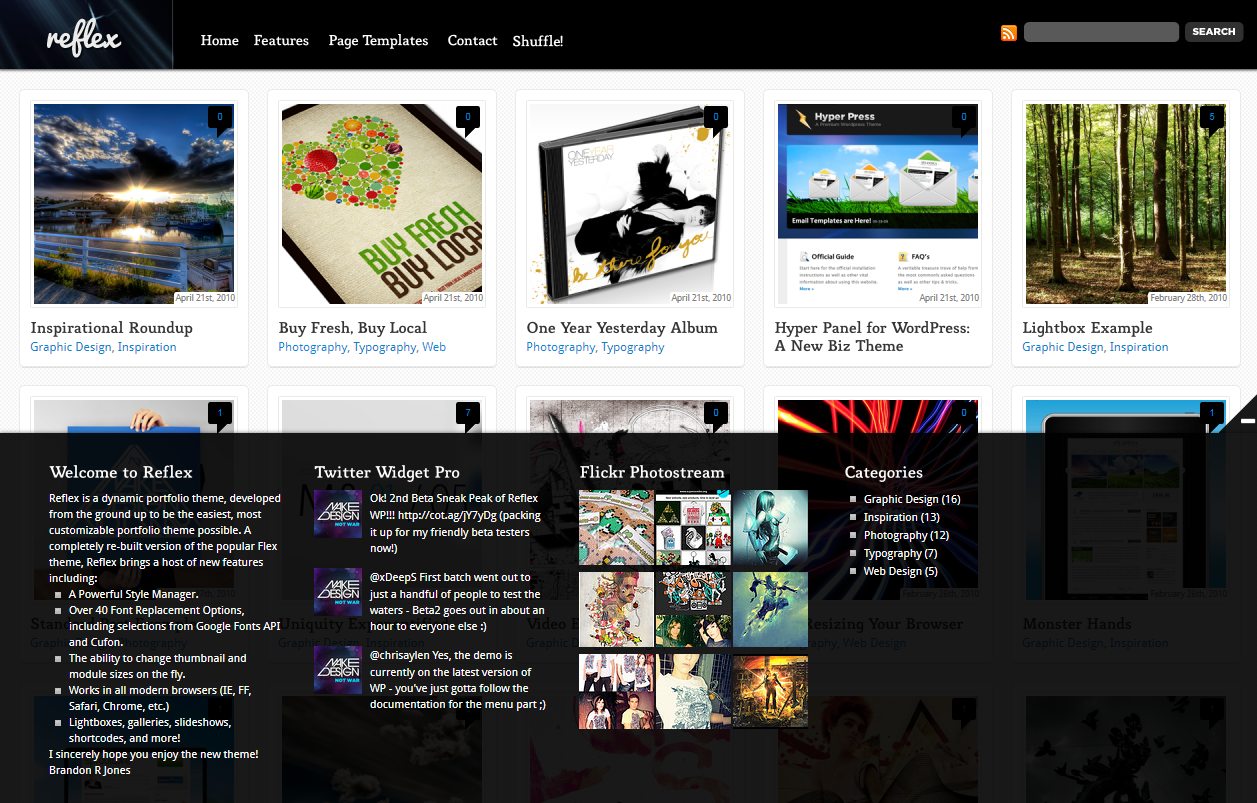 Reflex - Dynamic Grid Portfolio + Blog Theme