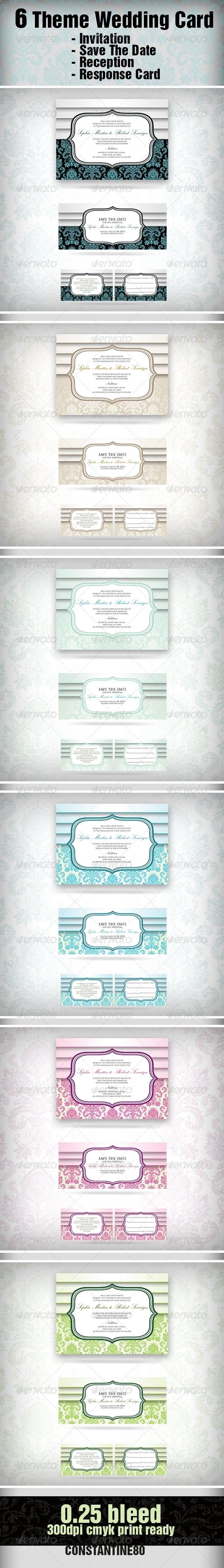 GraphicRiver 6 Theme Wedding Card 2306594