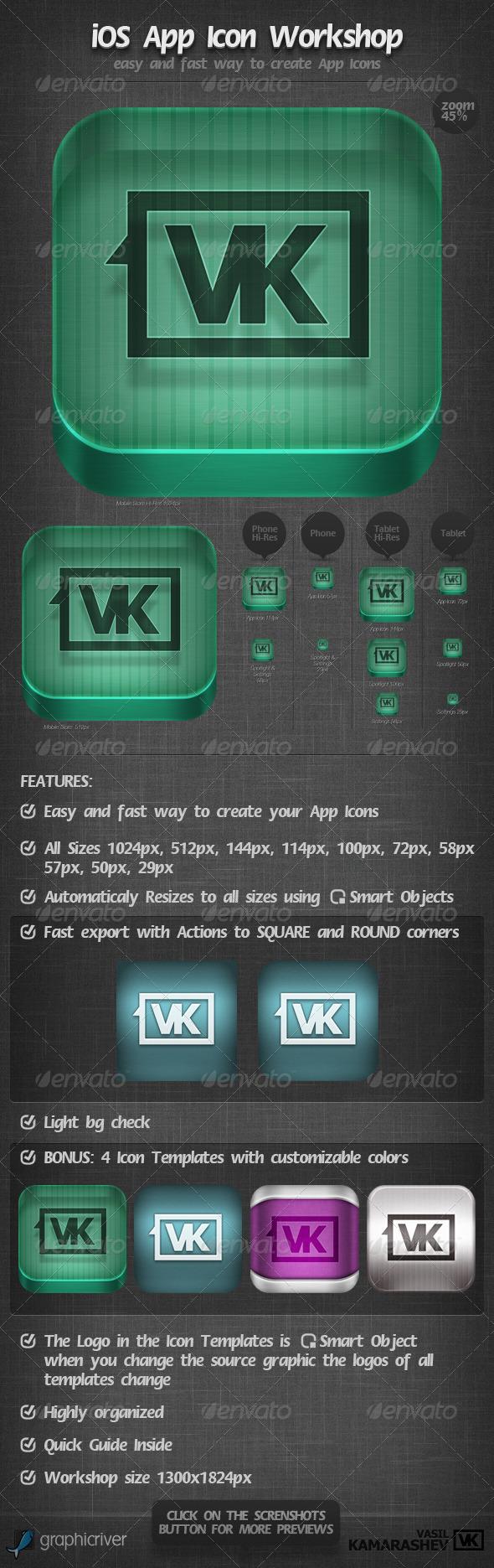 GraphicRiver iOS App Icon Workshop 2287378