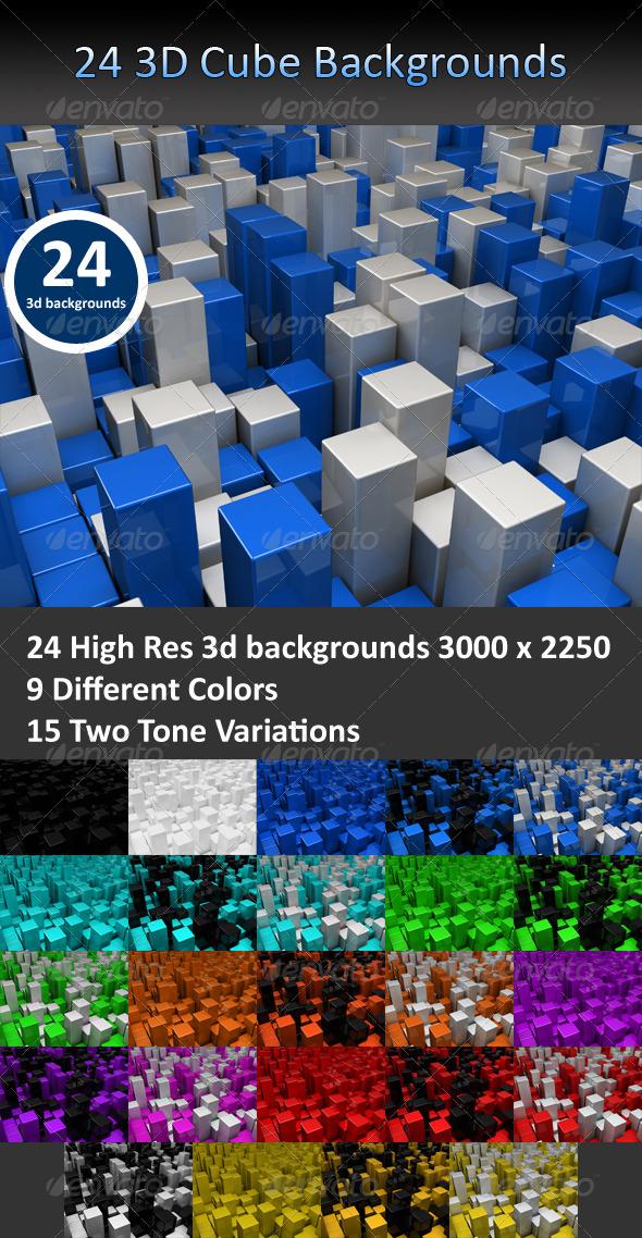 Cube 3D Backgrounds
