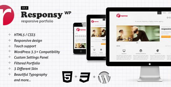 Responsy WP - A New Responsive HTML5 Portfolio WordPress Theme