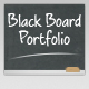 Black Board Portfolio Template
