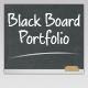 Black Board Portfolio Template  Free Download