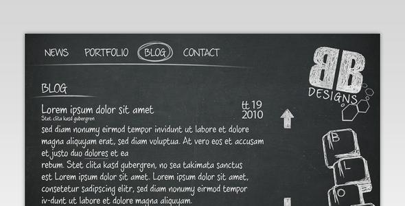 ThemeForest Black Board Portfolio Template 85857