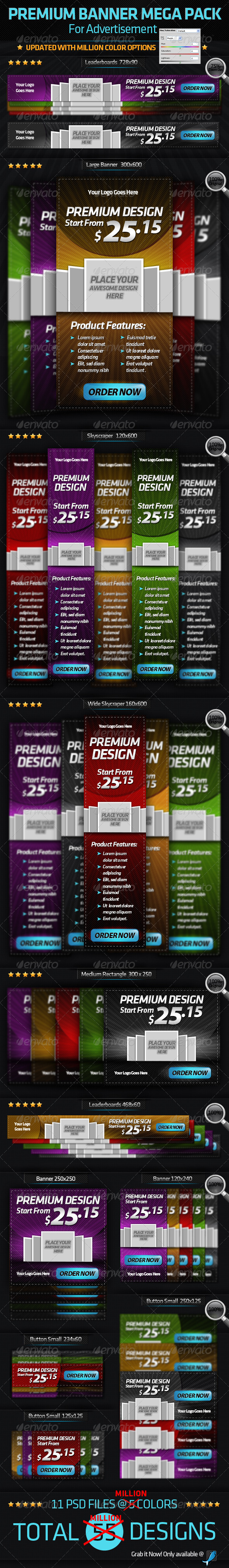 Premium Banner-Mega Pack-For Online Advertisement - Banners & Ads Web Elements