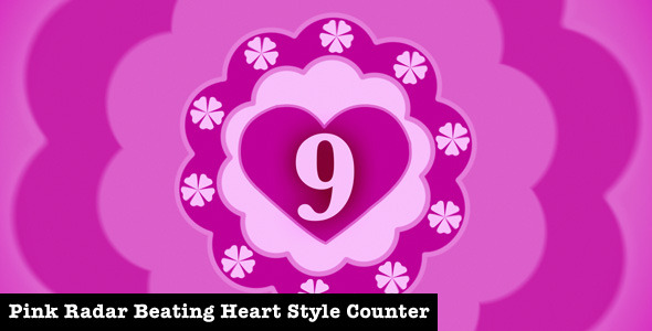 VideoHive Pink Radar Beating Heart Style Film Counter 2310511