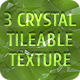3 Unique Tileable High-Resolution Crystal Textures - GraphicRiver Item for Sale