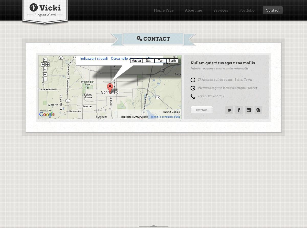 Vicki - Vintage Elegant HTML/CSS vCard