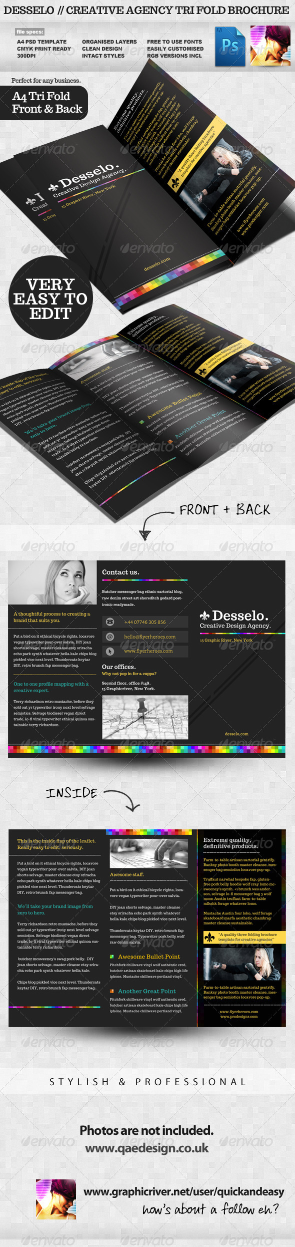 Desselo - Creative Tri-fold Brochure Template - Corporate Brochures