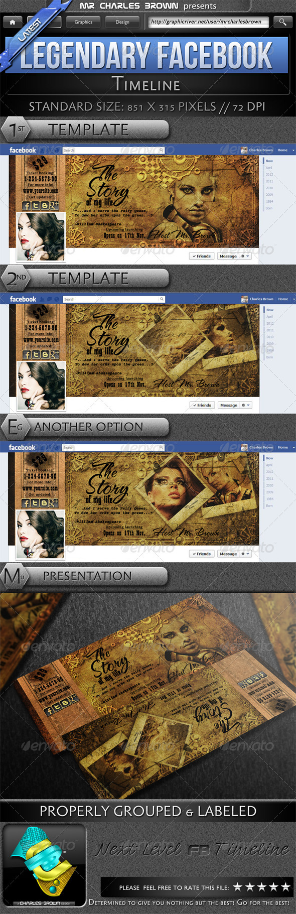 GraphicRiver Legendary Facebook Timeline 2311043