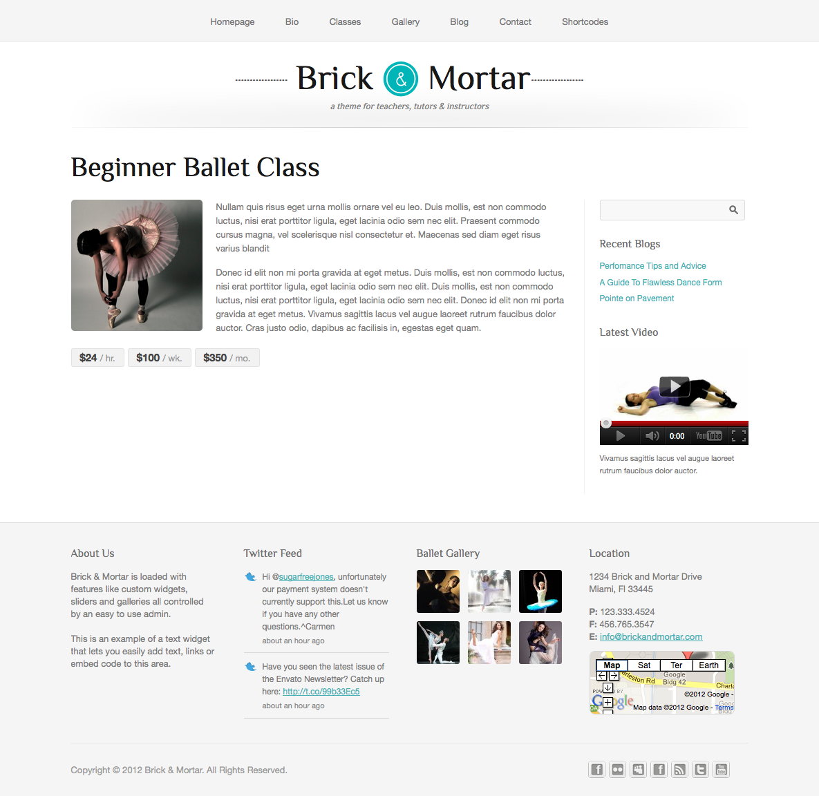 Brick & Mortar - A Personal Business Template - Description - This page features a full length description and pricing for your product or service.