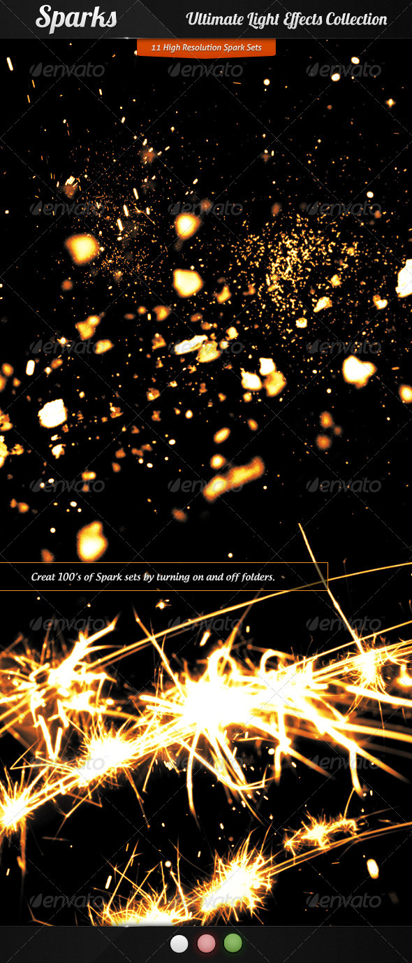 GraphicRiver Ultimate Light Effects Collection Sparks 2311673